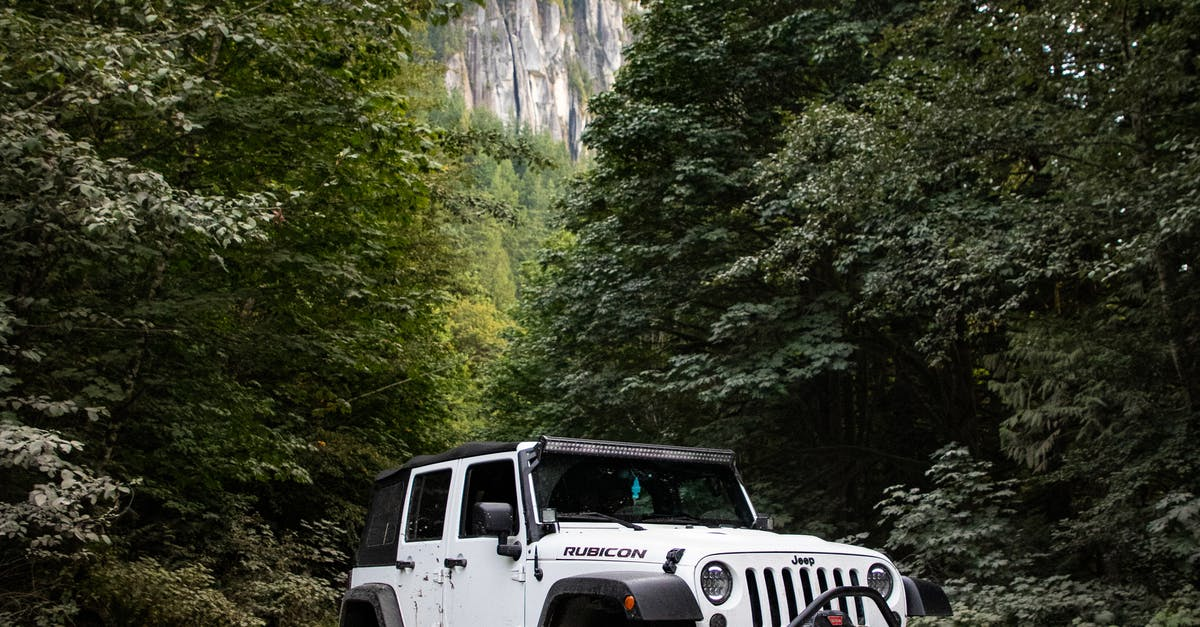 driving a jeep wrangler